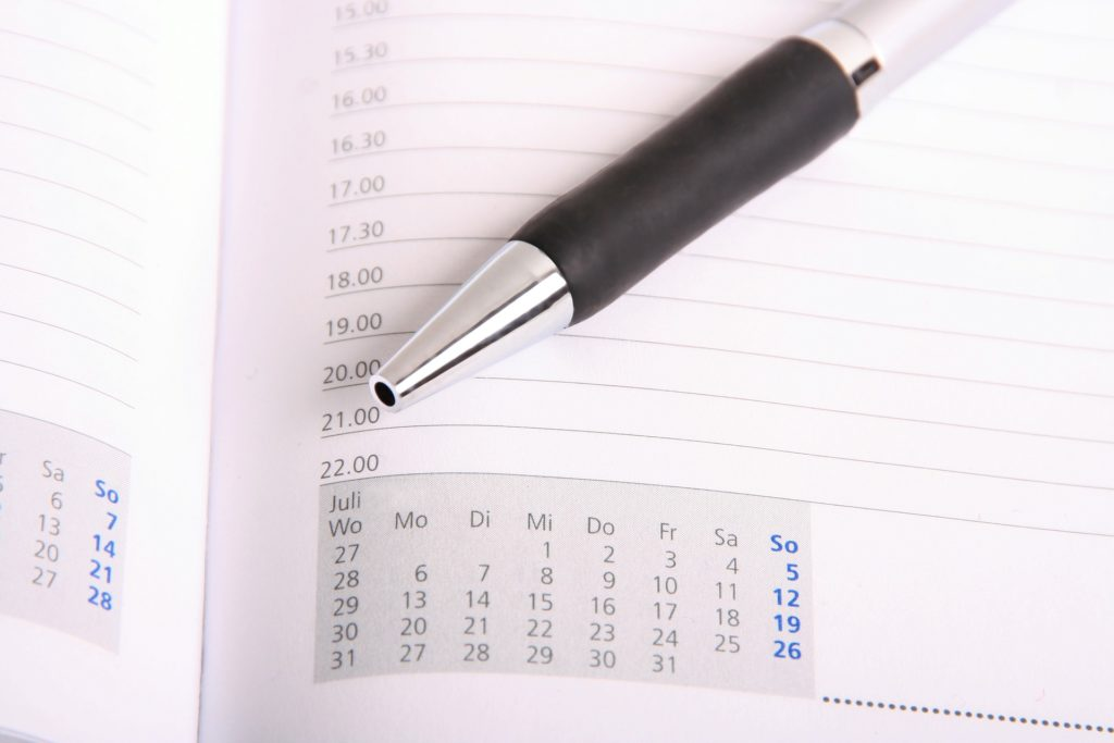 Schedule the next day