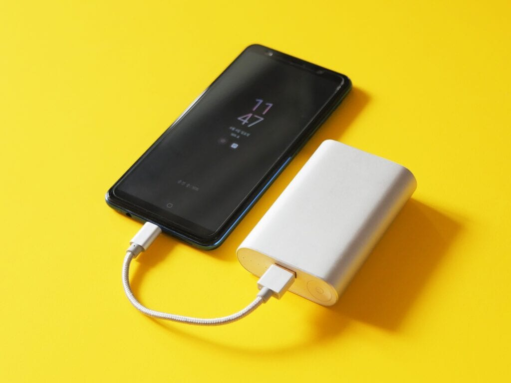 Full charged mobile or power bank