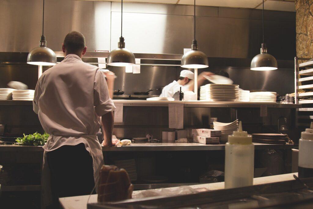 Worker at restaurant